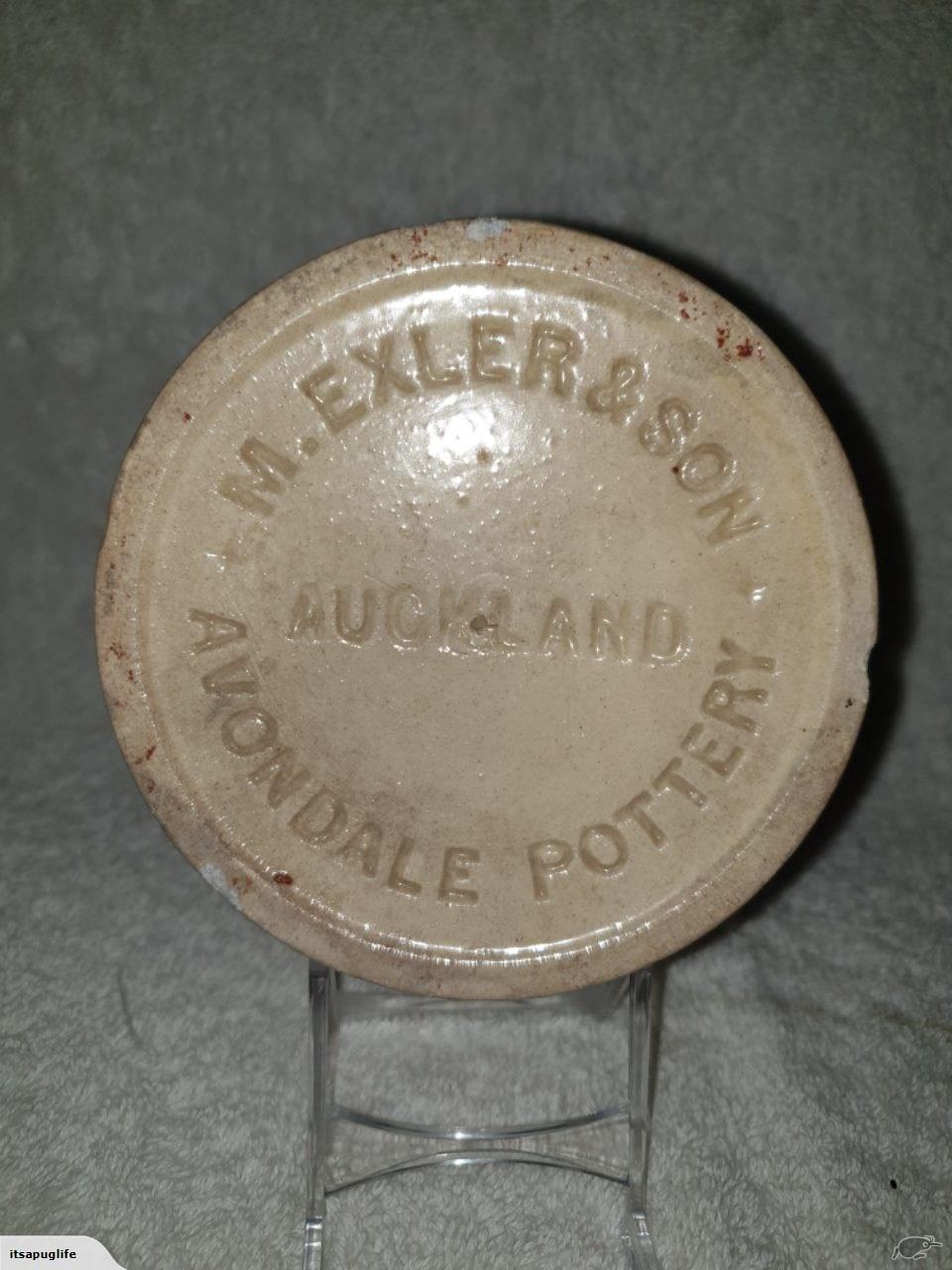 1899 Moses Exler, Avondale Potteries - preserving jar Exler_12