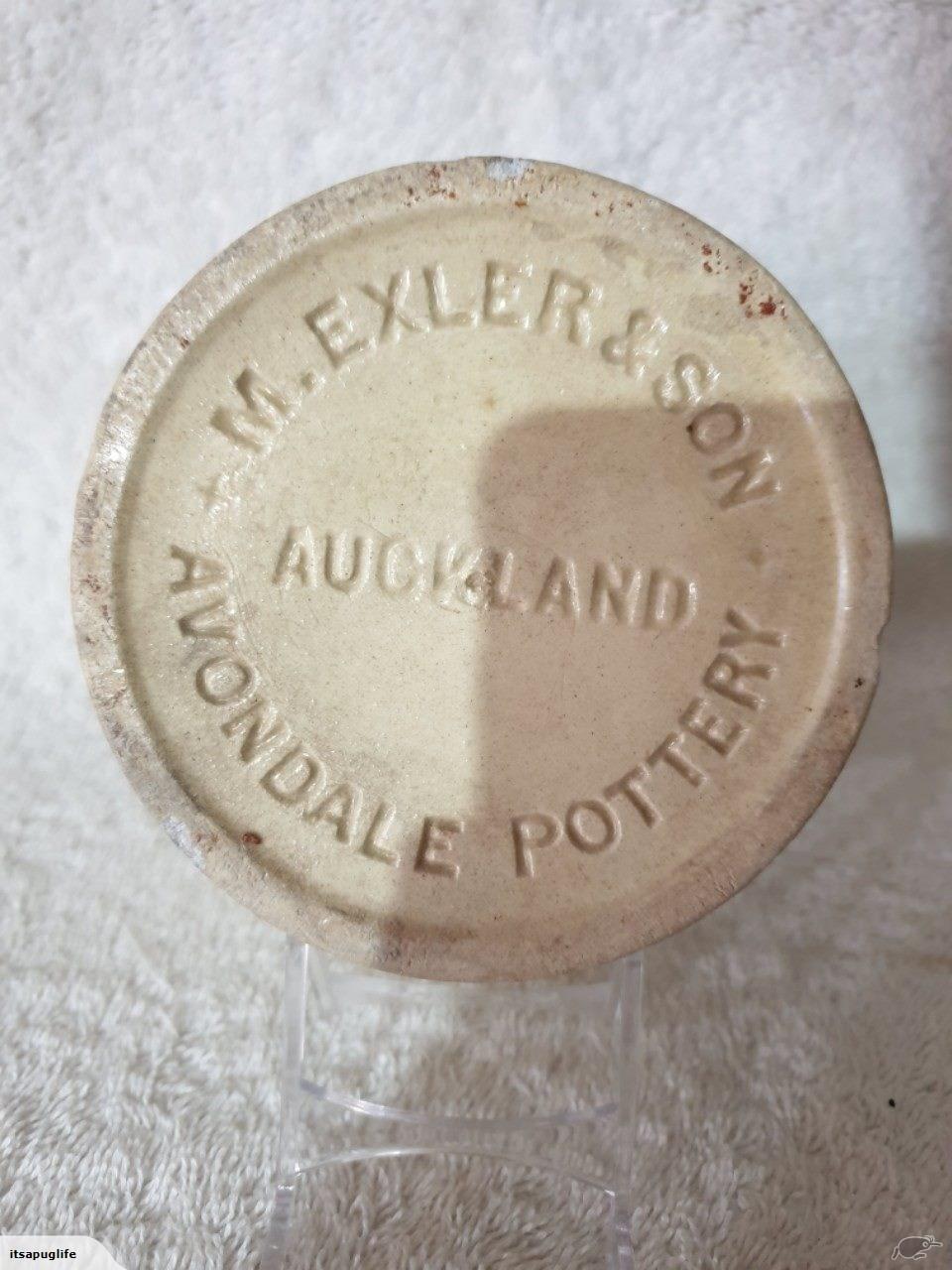 1899 Moses Exler, Avondale Potteries - preserving jar Exler_13