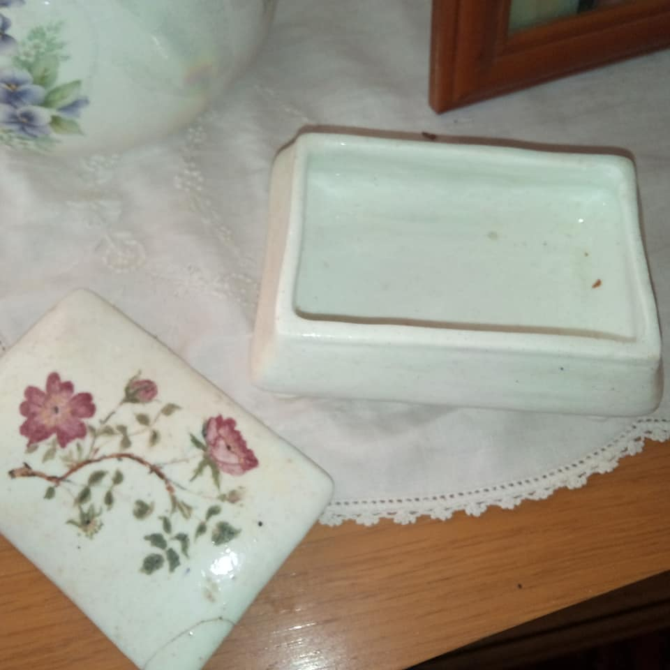 Bone China Sherwood Trinket Box Porcel10