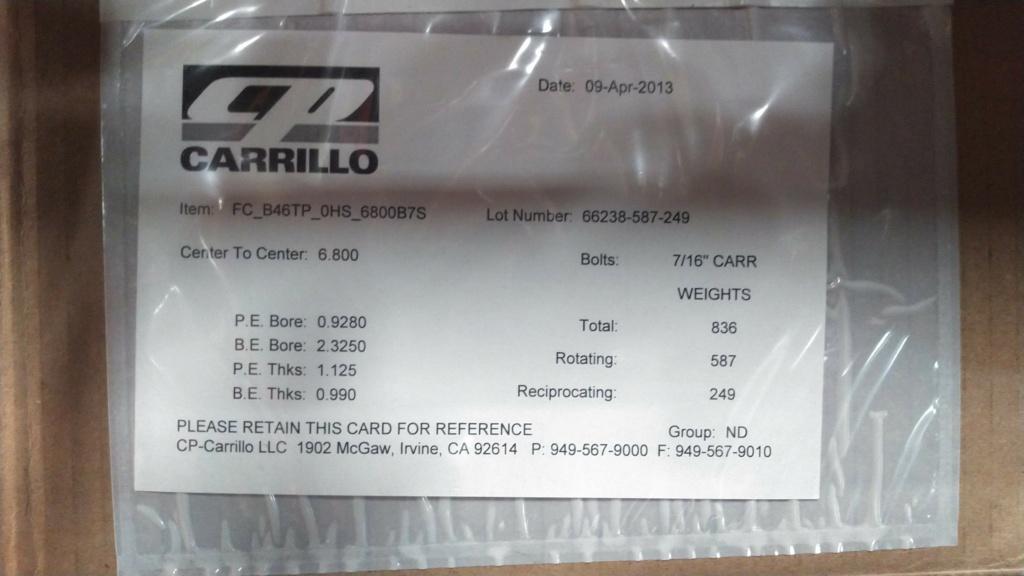 Carrillo rods, new in box Kimg0311