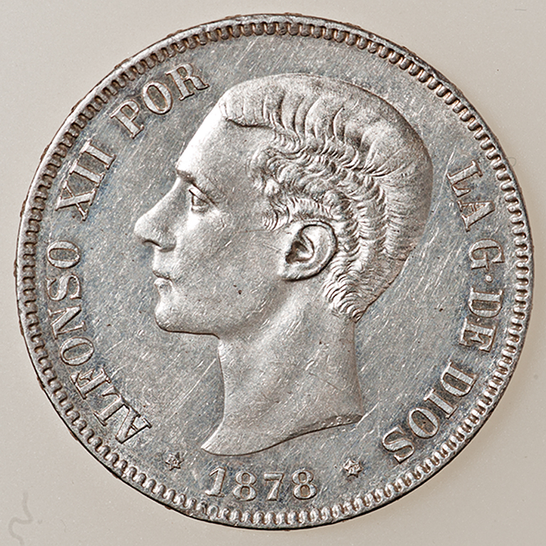 5 pesetas 1878. Alfonso XII. EM M _pas4411
