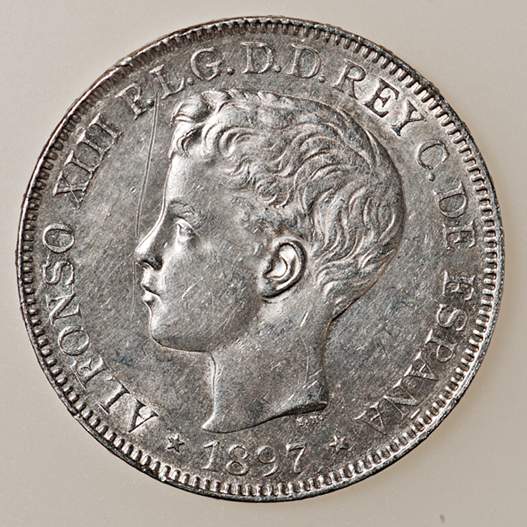 1 peso 1897. Alfonso XIII. Filipinas  _pas4415