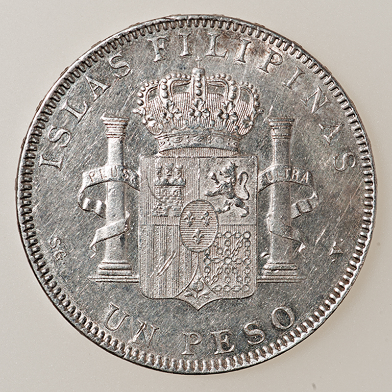 1 peso 1897. Alfonso XIII. Filipinas  _pas4416