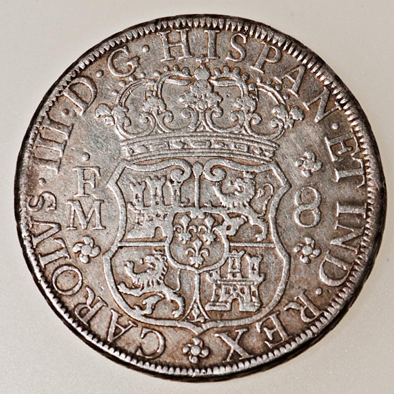8 Reales Carlos III México 1770 Columnario _pas4513