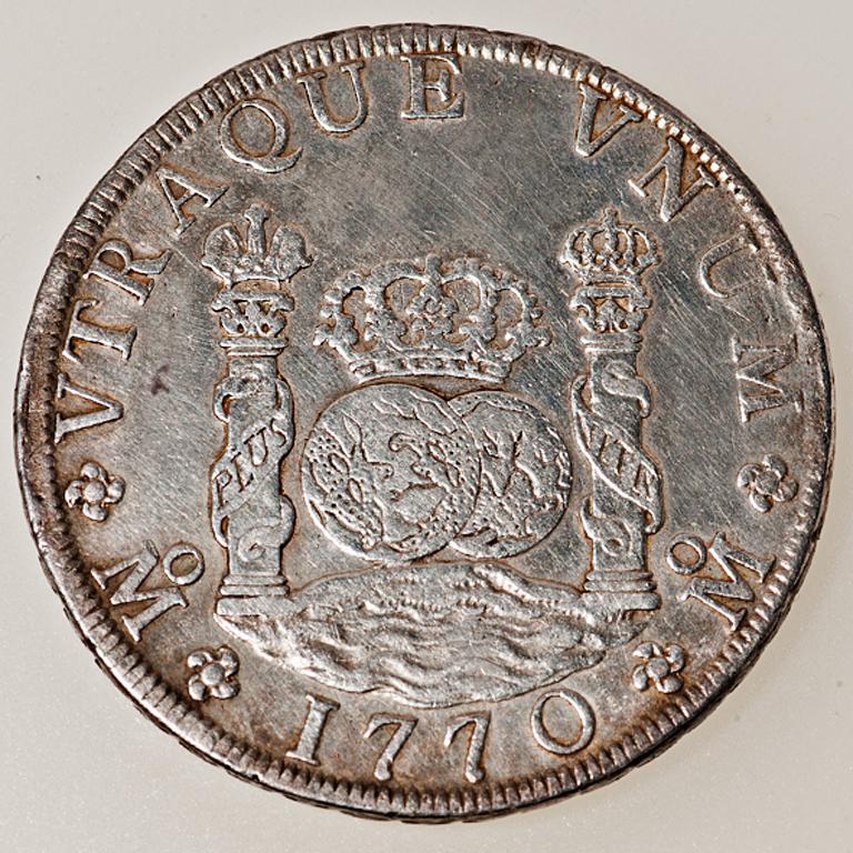8 Reales Carlos III México 1770 Columnario _pas4514