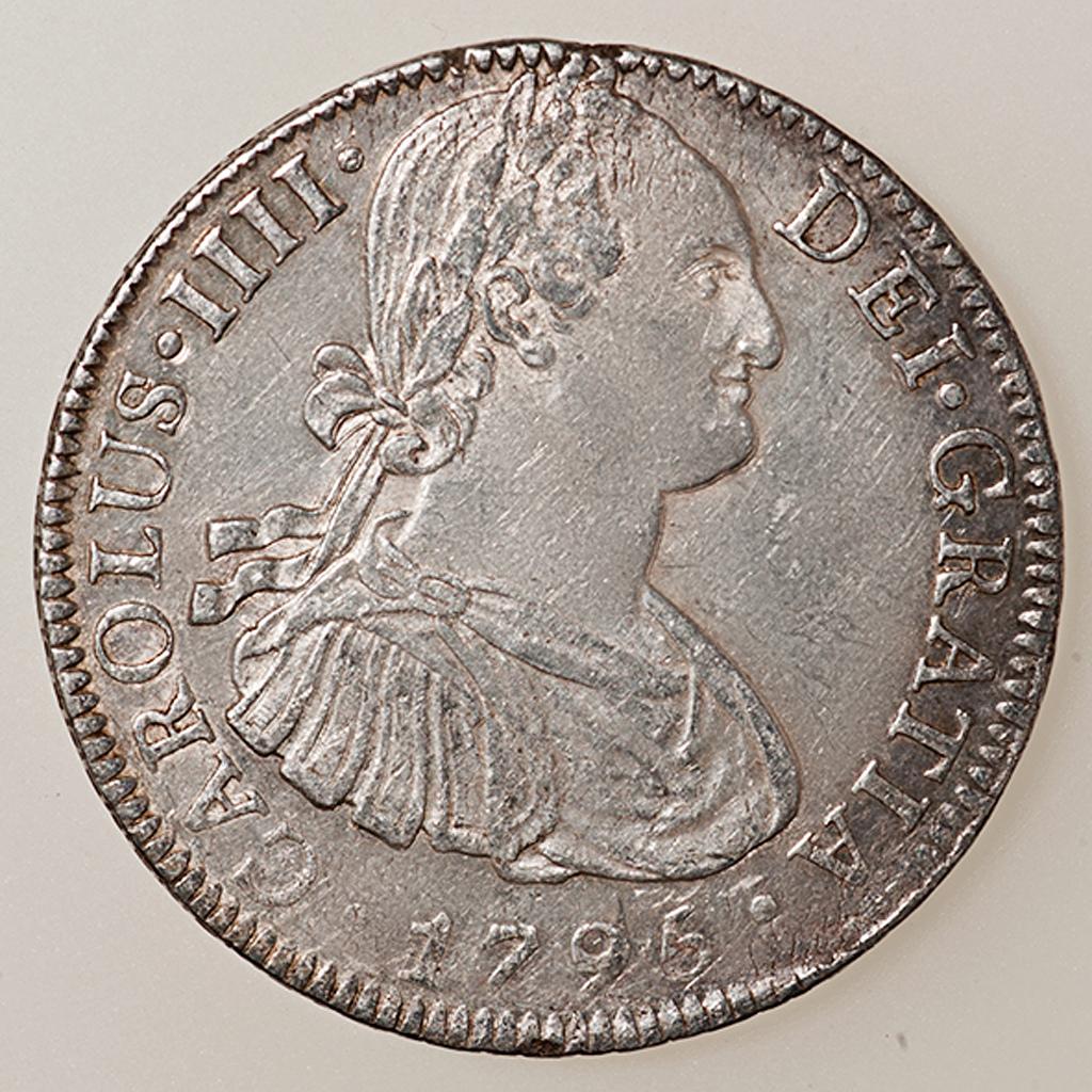 8 Reales 1795. Carlos IV. México  _pas4524