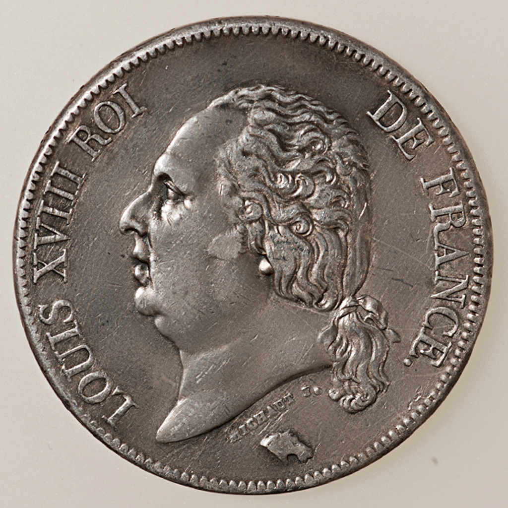 5 Francos Louis XVIII 1823 París _pas4525