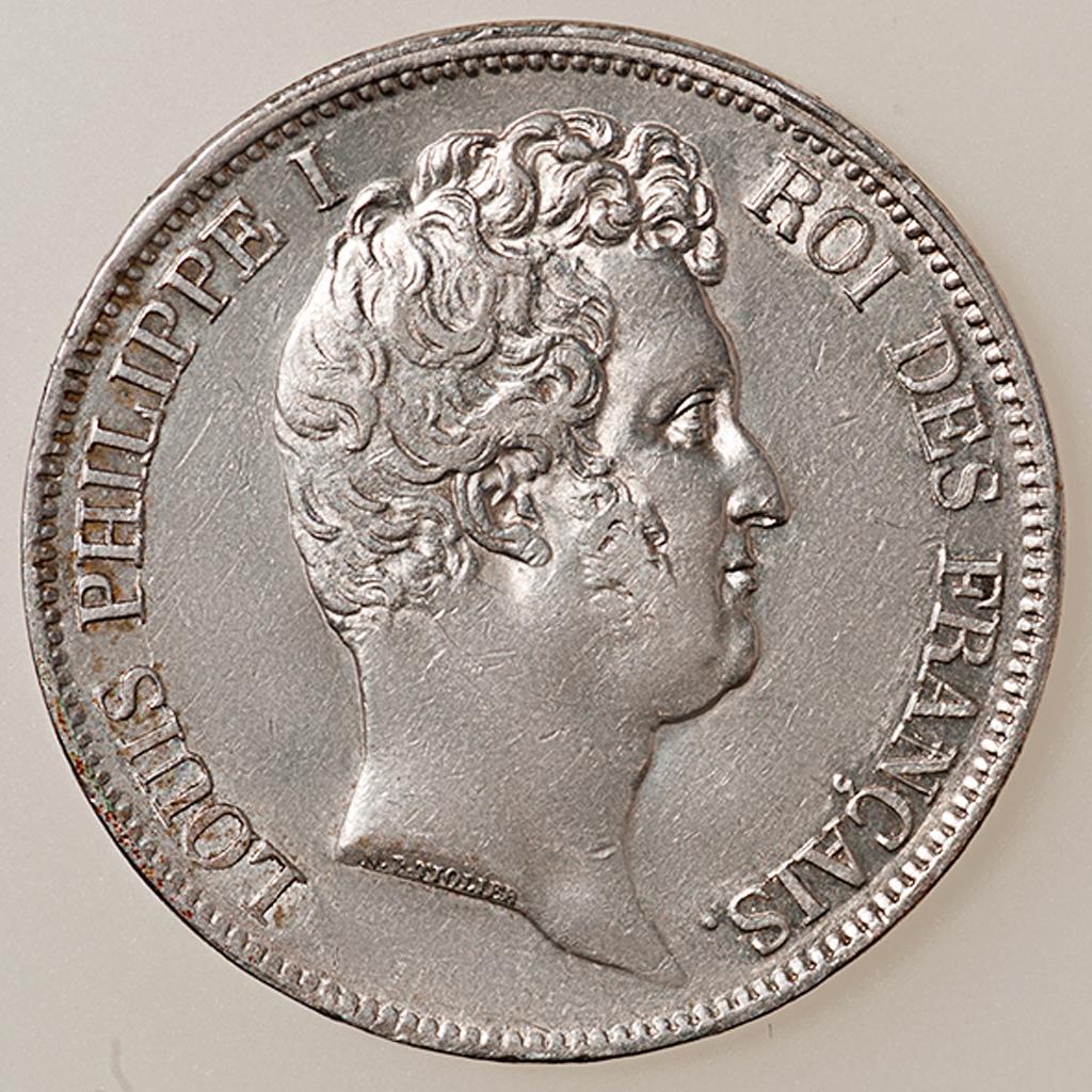 5 francos Louis Philippe I 1830 Rouen (cabeza desnuda) _pas4529