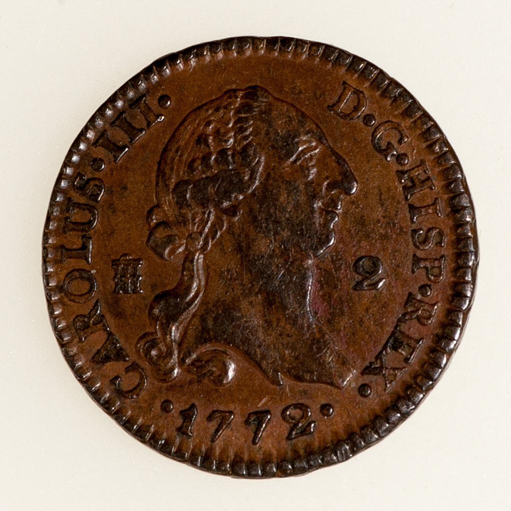 2 Maravedis Carlos III Segovia 1772 _pas4710