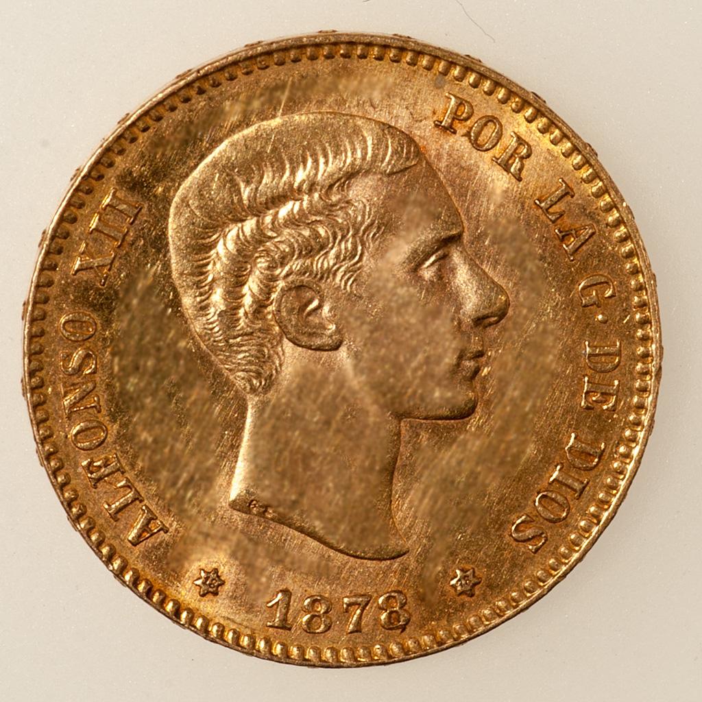 25 pesetas 1878 (*18-78). Alfonso XII  _pas4724