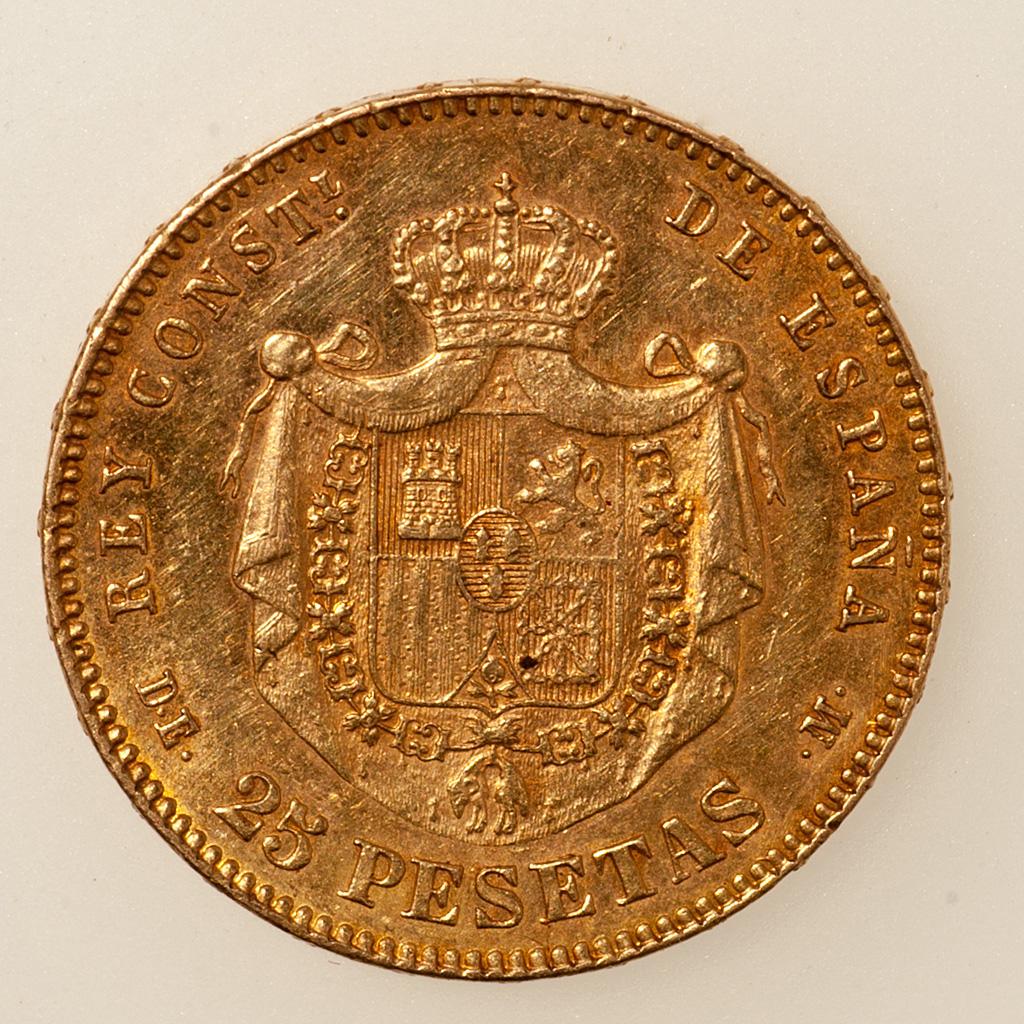 25 pesetas 1878 (*18-78). Alfonso XII  _pas4725