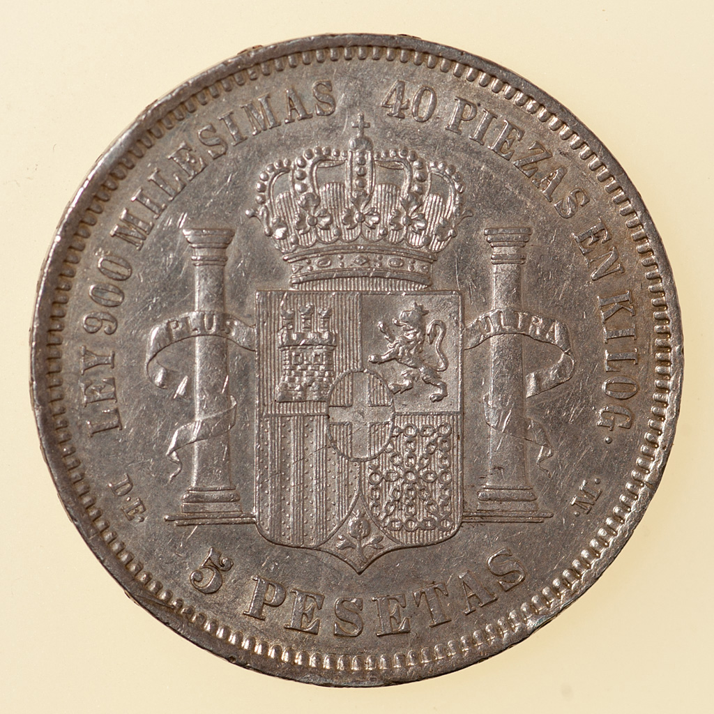 5 pesetas 1871 (18*75). Amadeo I _pas4731