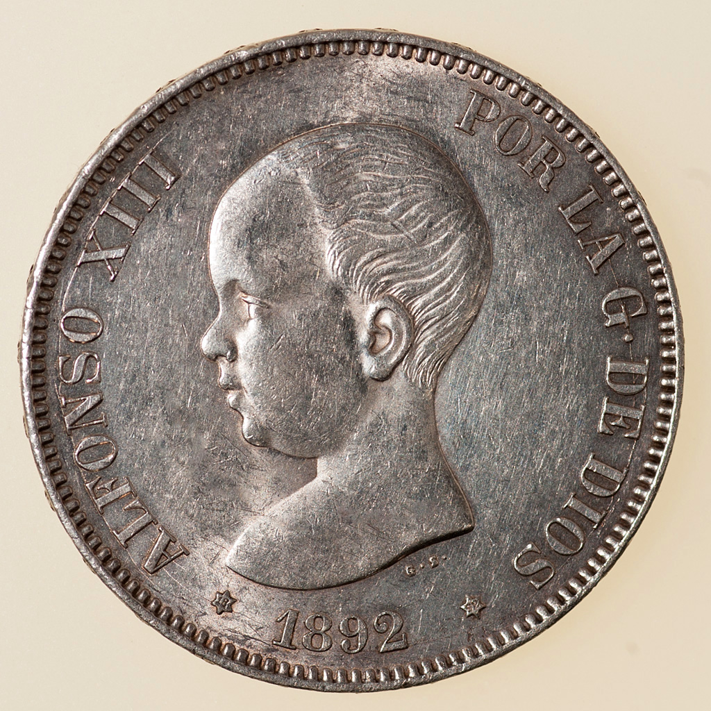 5 pesetas 1892. Alfonso XIII. PG M _pas4733