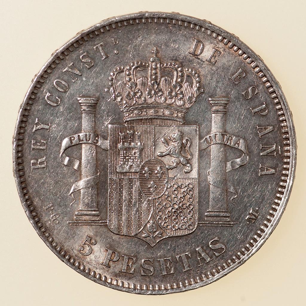 5 pesetas 1892. Alfonso XIII. PG M _pas4734