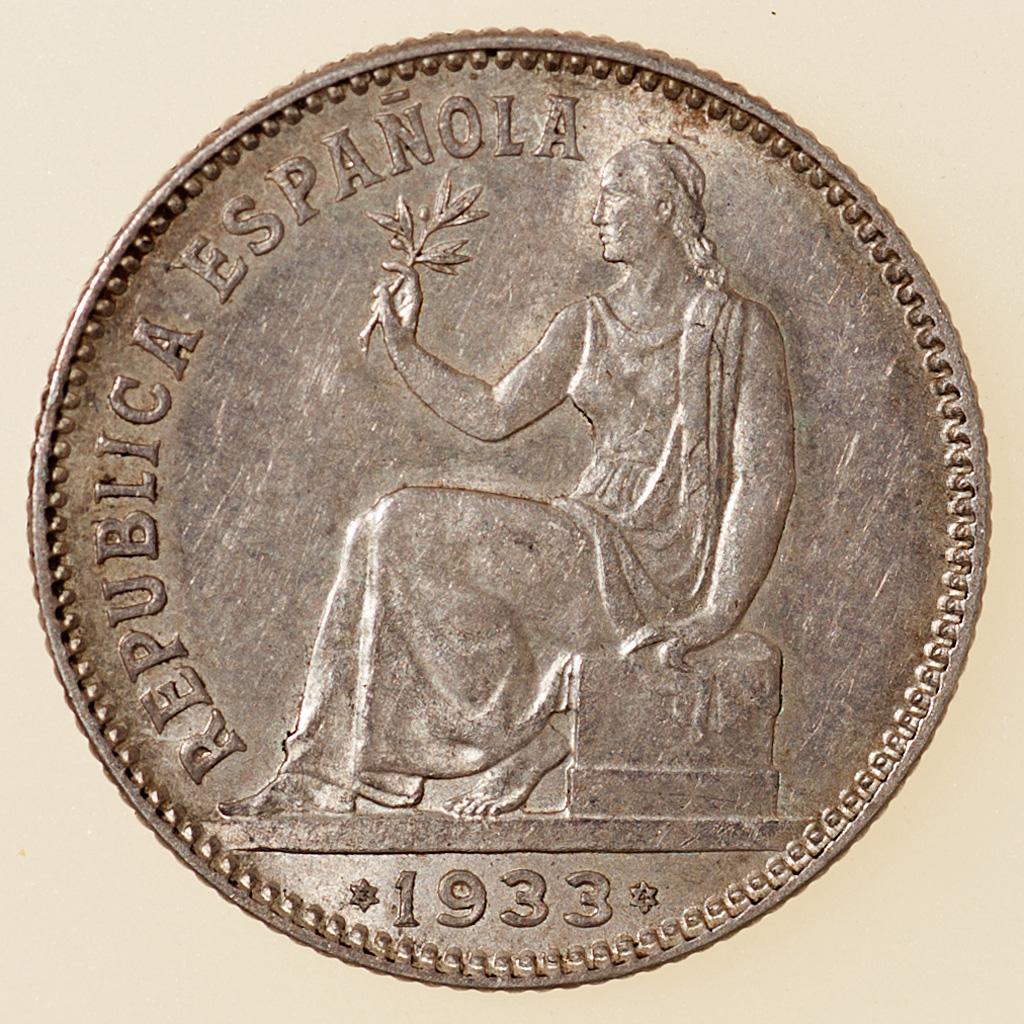 1 Peseta 1933 (*3-4). II República _pas4736