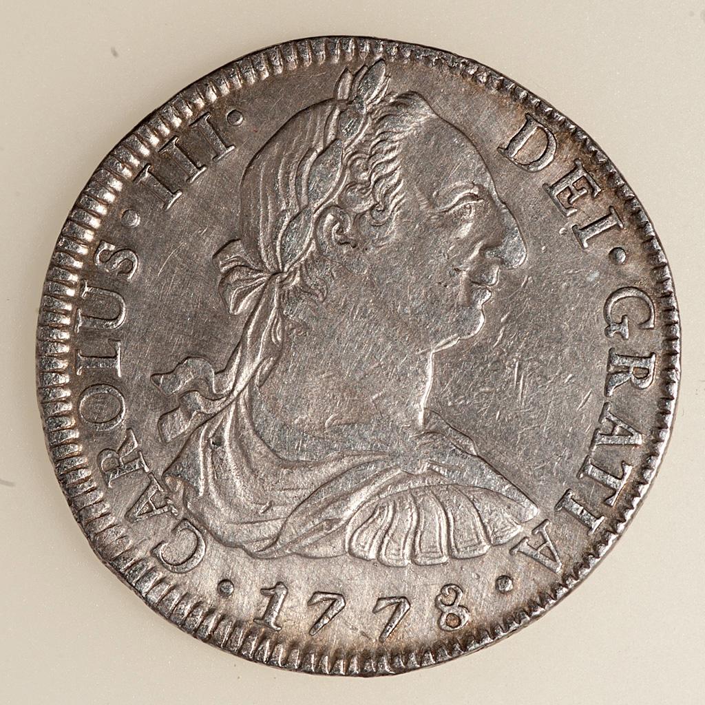 8 Reales Carlos III México 1778 FF (busto) _pas4739