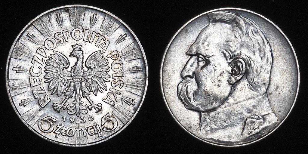 5 zlotych Polonia 1936 (Jósef Pilsudski) _pas6515