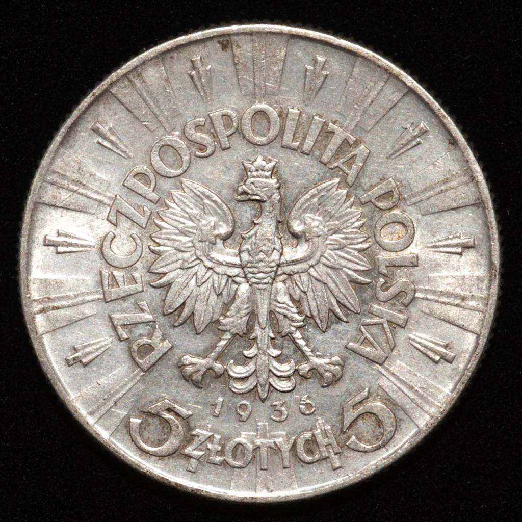 5 zlotych Polonia 1936 (Jósef Pilsudski) _pas6517