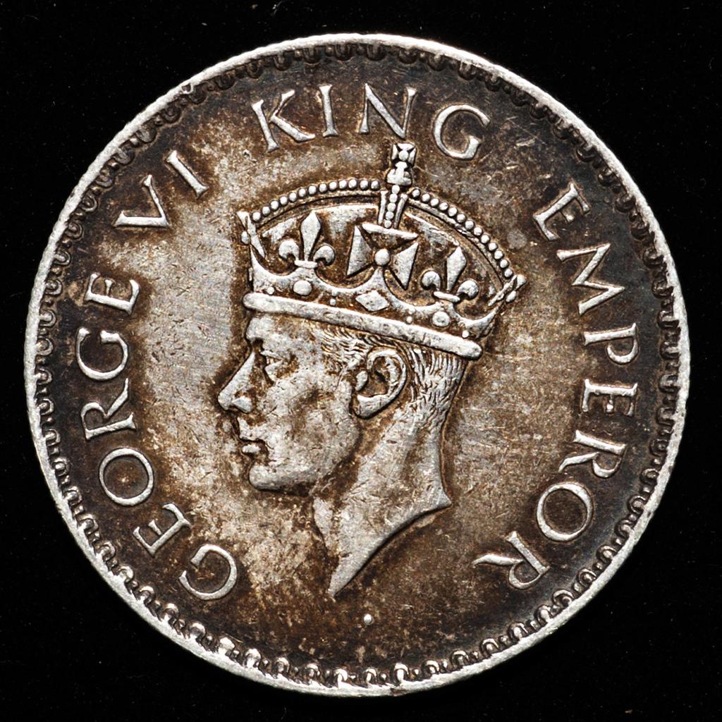 1 rupia Jorge VI India Británica 1938. Dedicada a 10 pfennig. _pas6519
