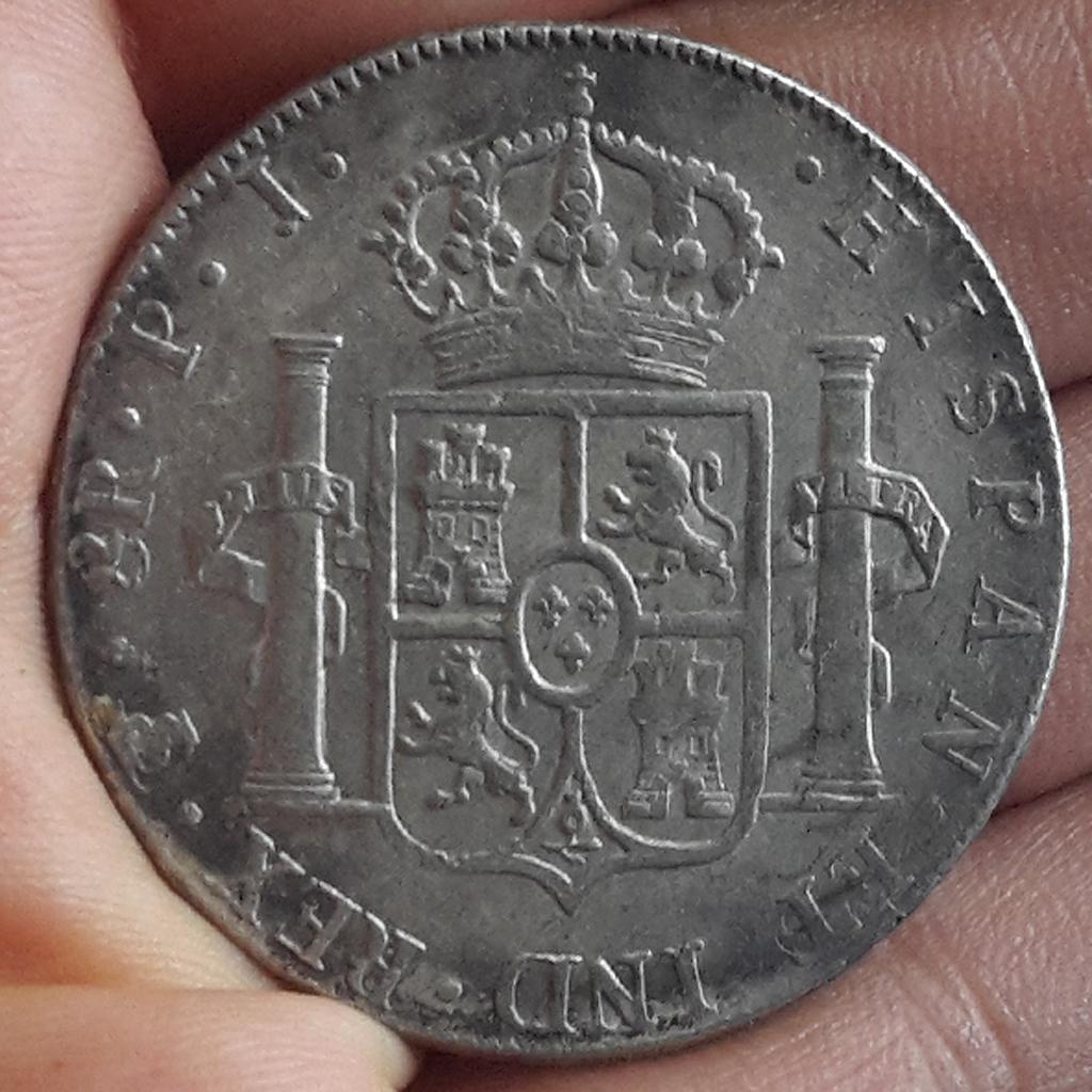 8 Reales 1805. Carlos IV. Potosí  Civ18011