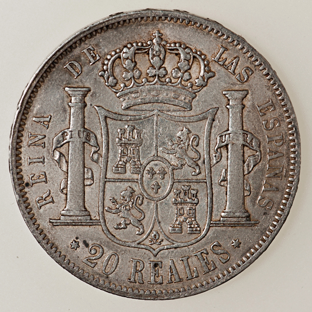 20 Reales Isabel II 1852 Madrid Isabel11