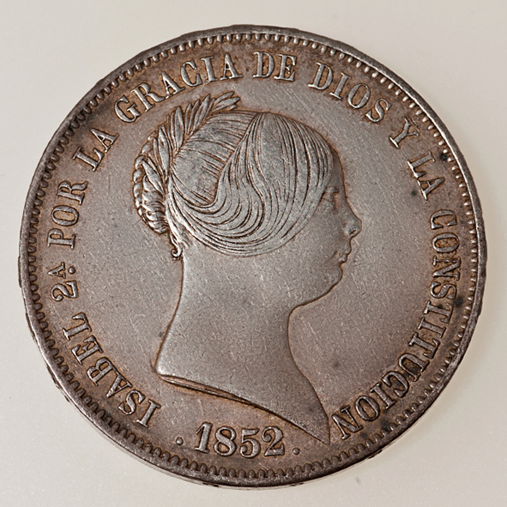 20 Reales Isabel II 1852 Madrid Isabel12