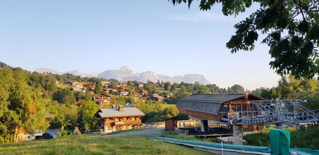 """Camping """"Bornand"""" à demi quartier entre Combloux et Megève 20180818"""