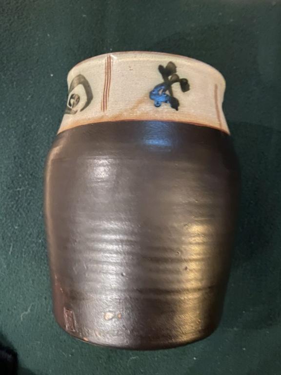 LD mark lidded Jar, David Leach? 097e3d10