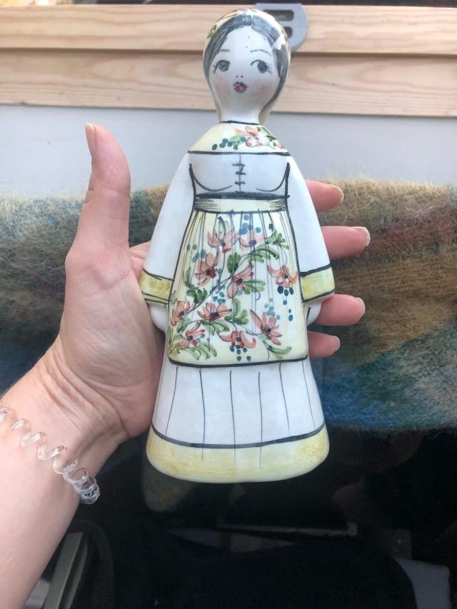 Russian Ceramic Lady Figurine with artist signature  8101d610
