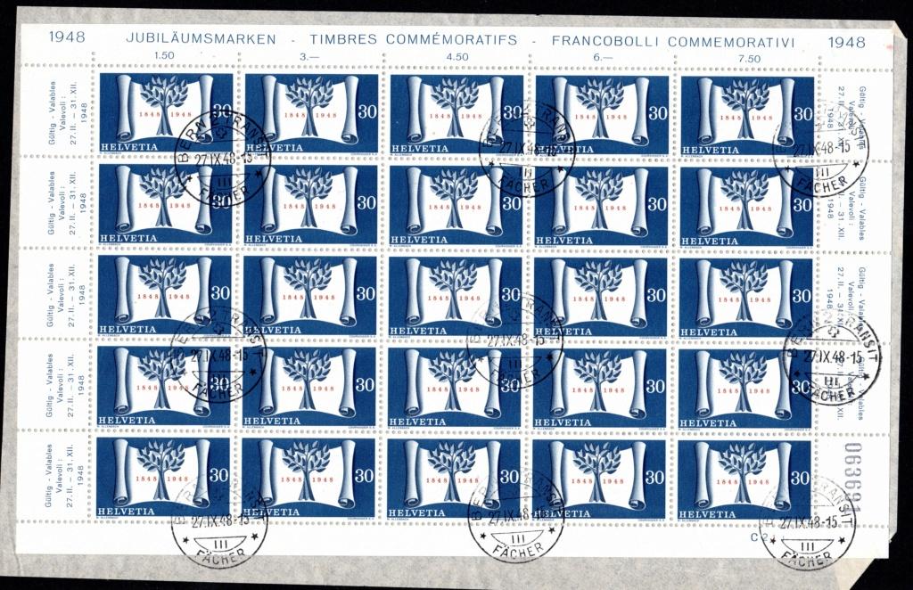 100 Jahre Schweizer Bundesstaat  27.XI.1948 Bogen_10