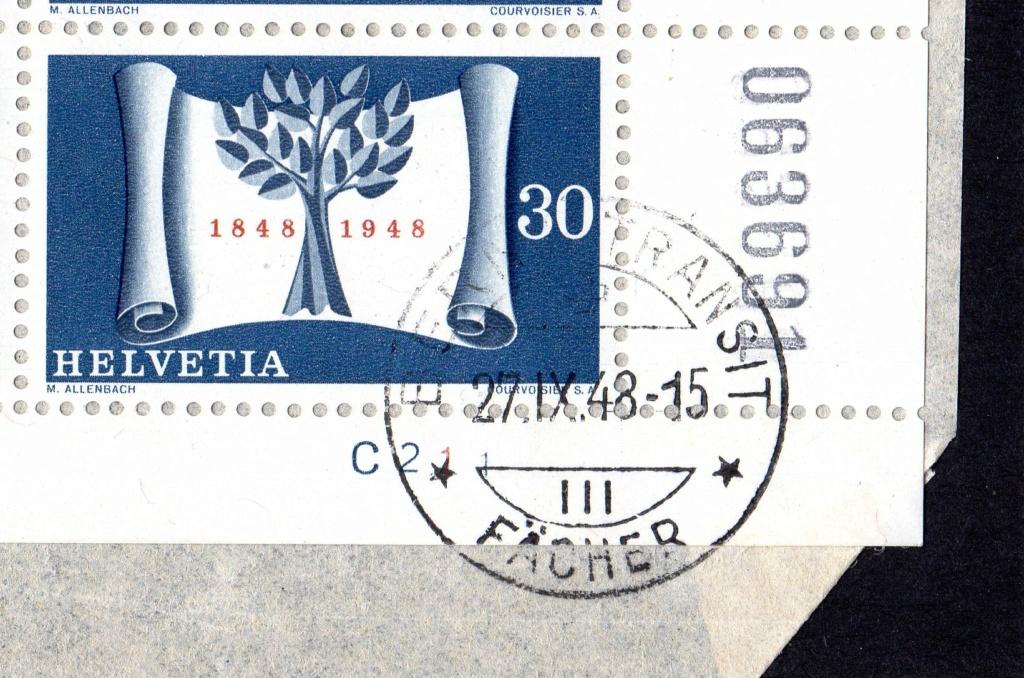 100 Jahre Schweizer Bundesstaat  27.XI.1948 Bogent10