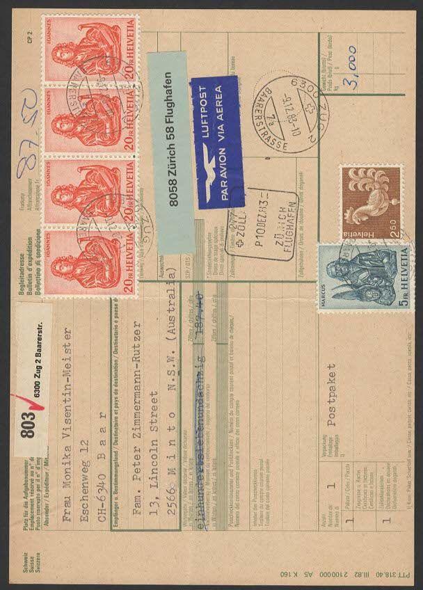 Tausch von Paket-Post Begleitkarten Lp110