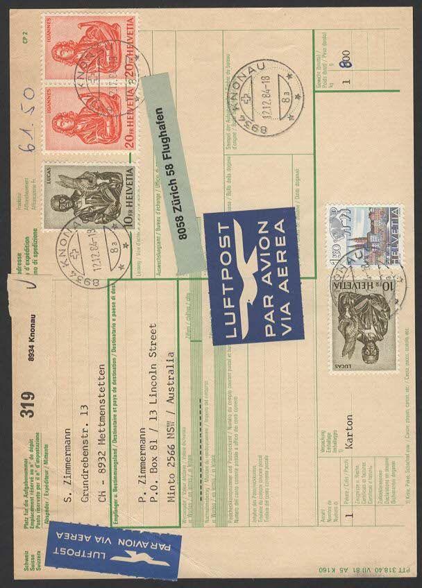 Tausch von Paket-Post Begleitkarten Lp210
