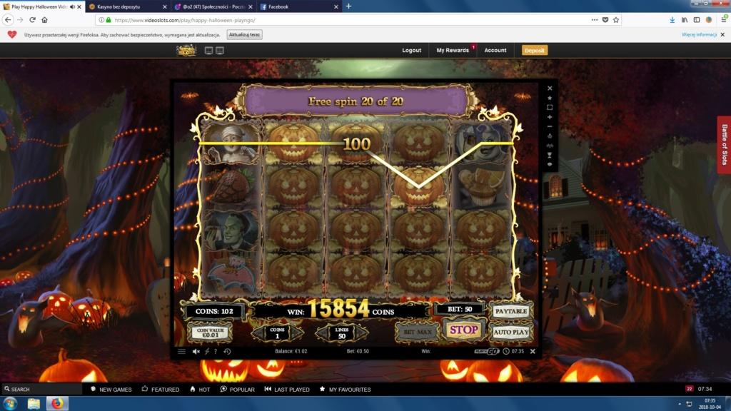 Screenshoty naszych wygranych (minimum 200zł - 50 euro) - kasyno - Page 16 Hallow10