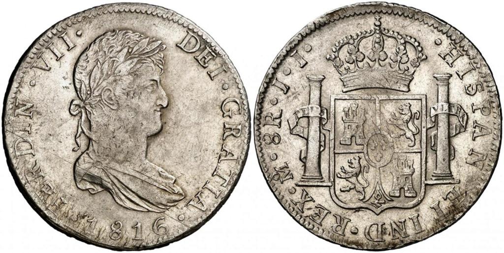 8 reales 1816. Fernando VII. Méjico Tirar10