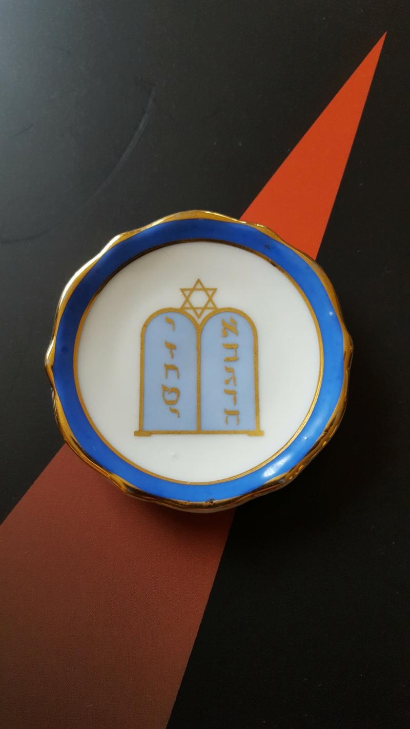 judaïca assiette miniature décor aux dix commandements 20201018