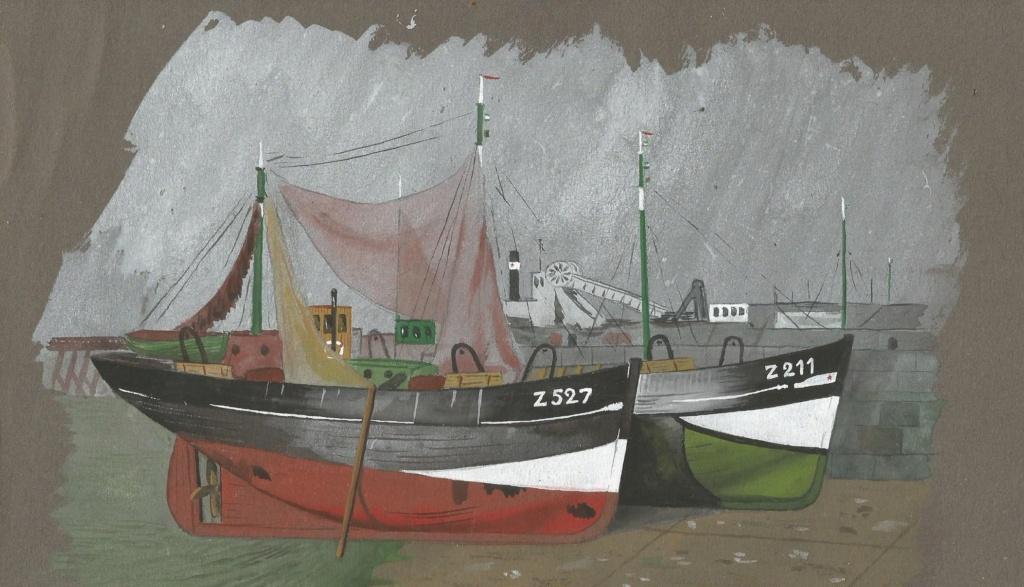 Aciens chalutiers et crevetiers belges Peintu10
