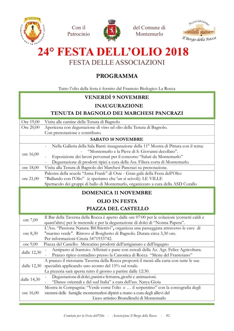FESTA DELL'OLIO MONTEMURLO Progra10