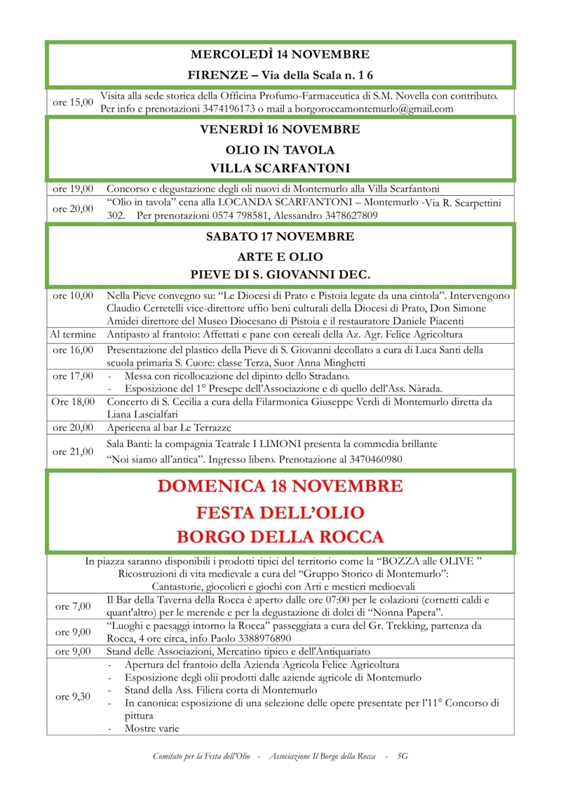 FESTA DELL'OLIO MONTEMURLO Progra12