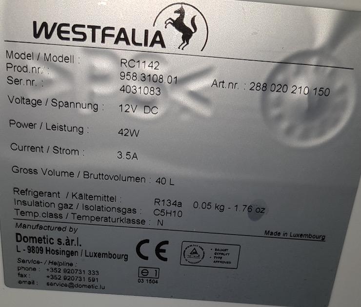 fonction congélation sur le réfrigérateur Wesfalia ? Plaque10