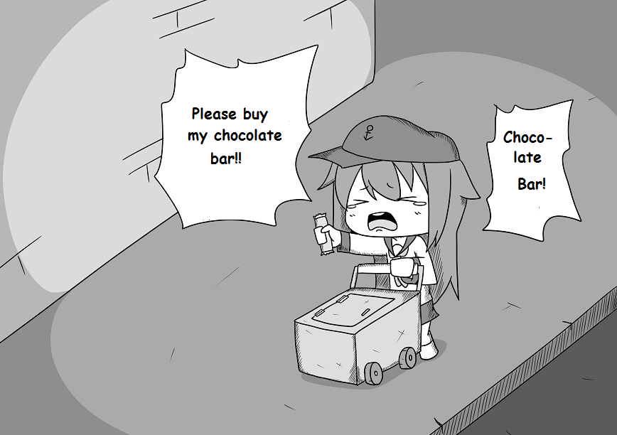 Chocolate Bar Girl 0210