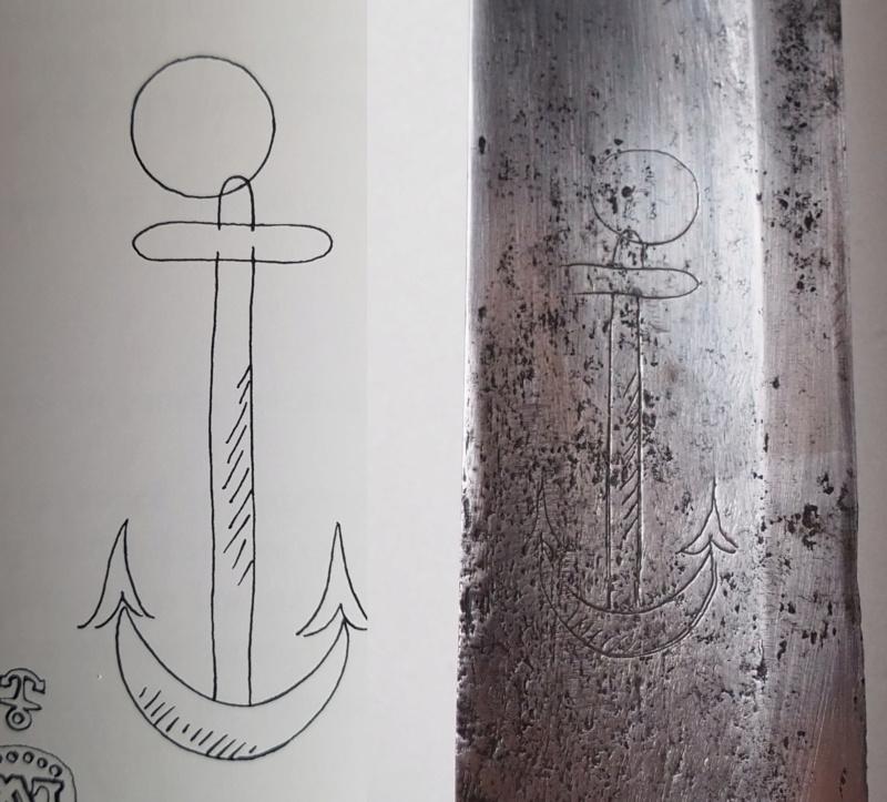 Sabre de bord lames an X sur le modèle 1833 Anchor10