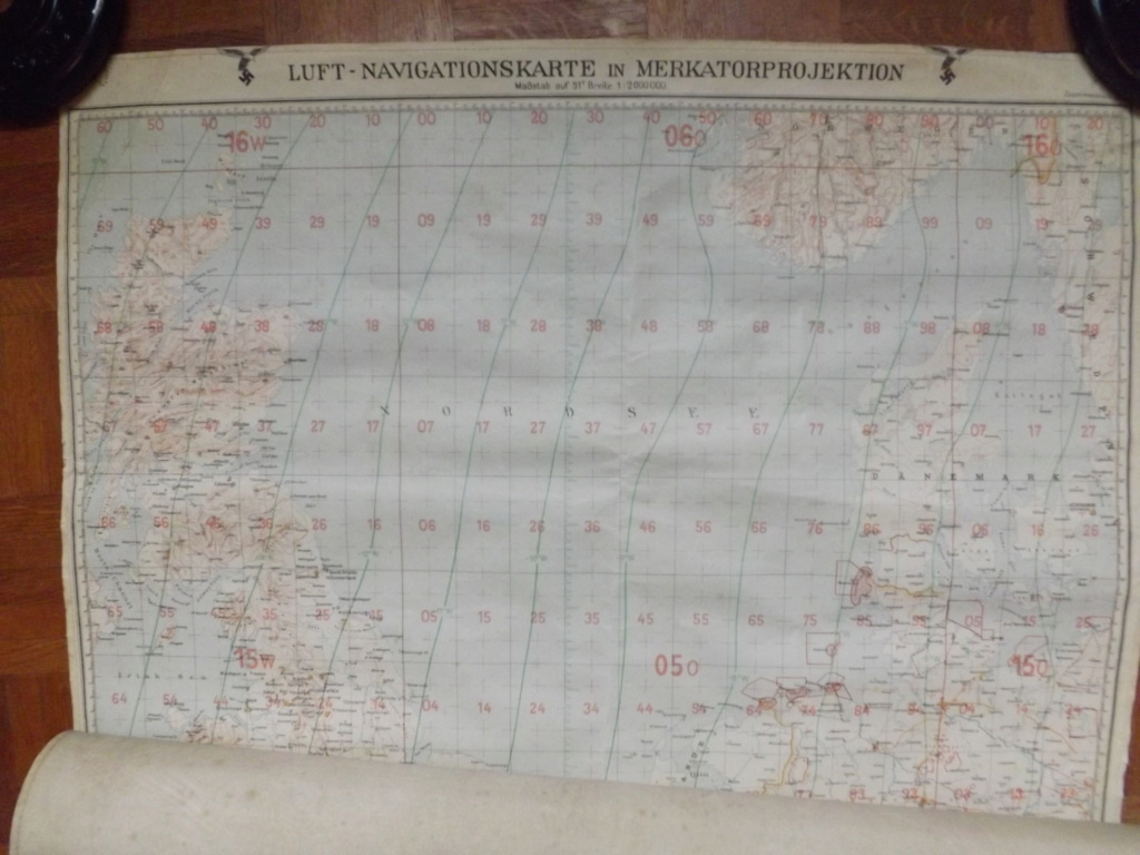 Estimation carte de navigation aérienne allemande WW2 Dscf2027