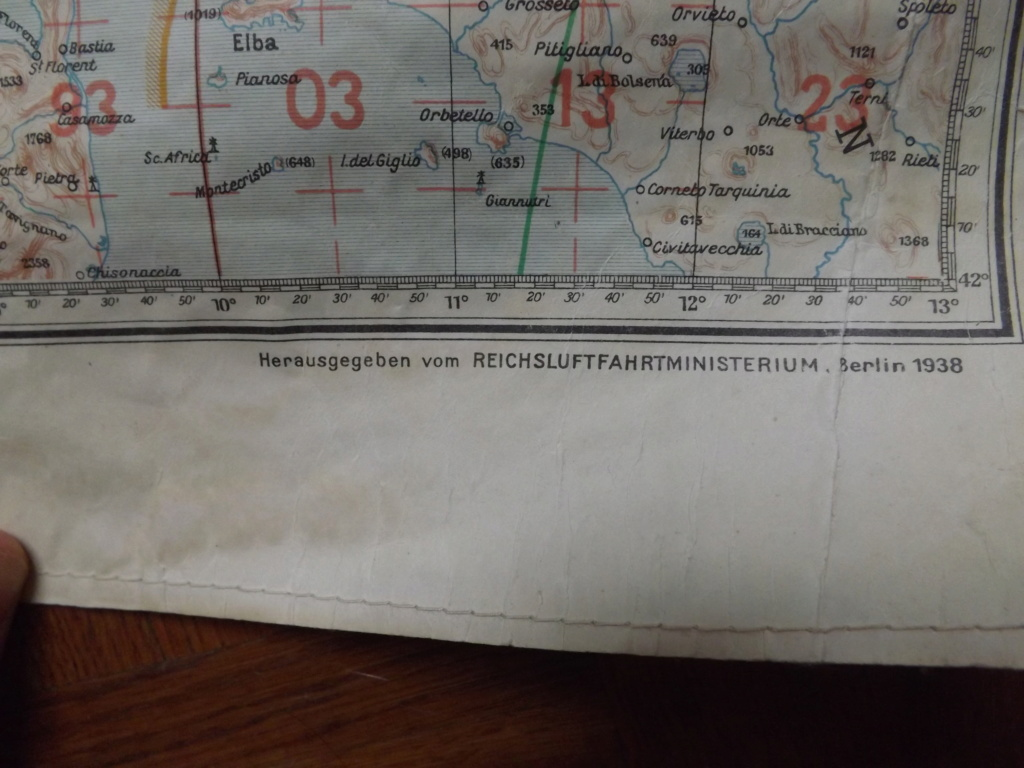 Estimation carte de navigation aérienne allemande WW2 Dscf2031