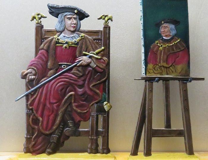 Albrecht Dürer malt Kaiser Maximilian Ad1210