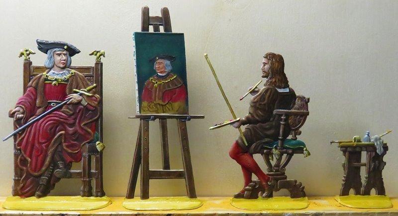 Albrecht Dürer malt Kaiser Maximilian Ad1510