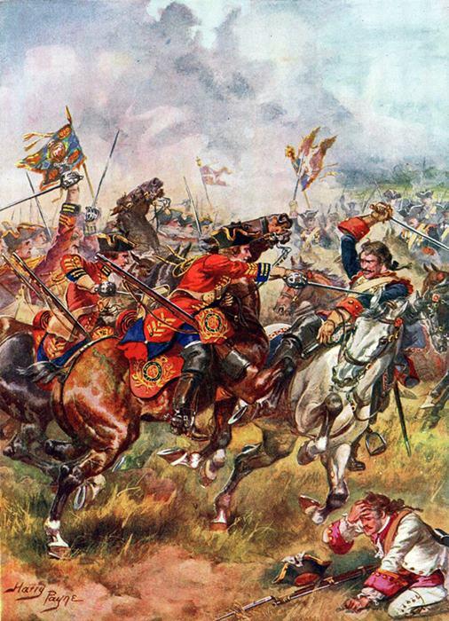Schlacht bei Dettingen am 27. Juni 1743 Dragde10