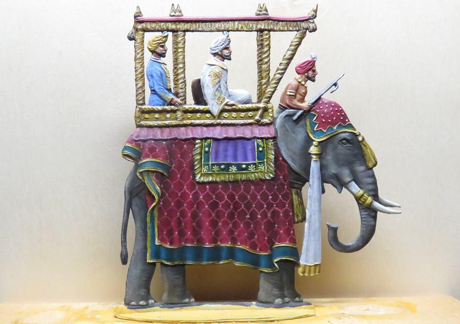 Maharadscha mit Elefant [Knut]  Ele1010