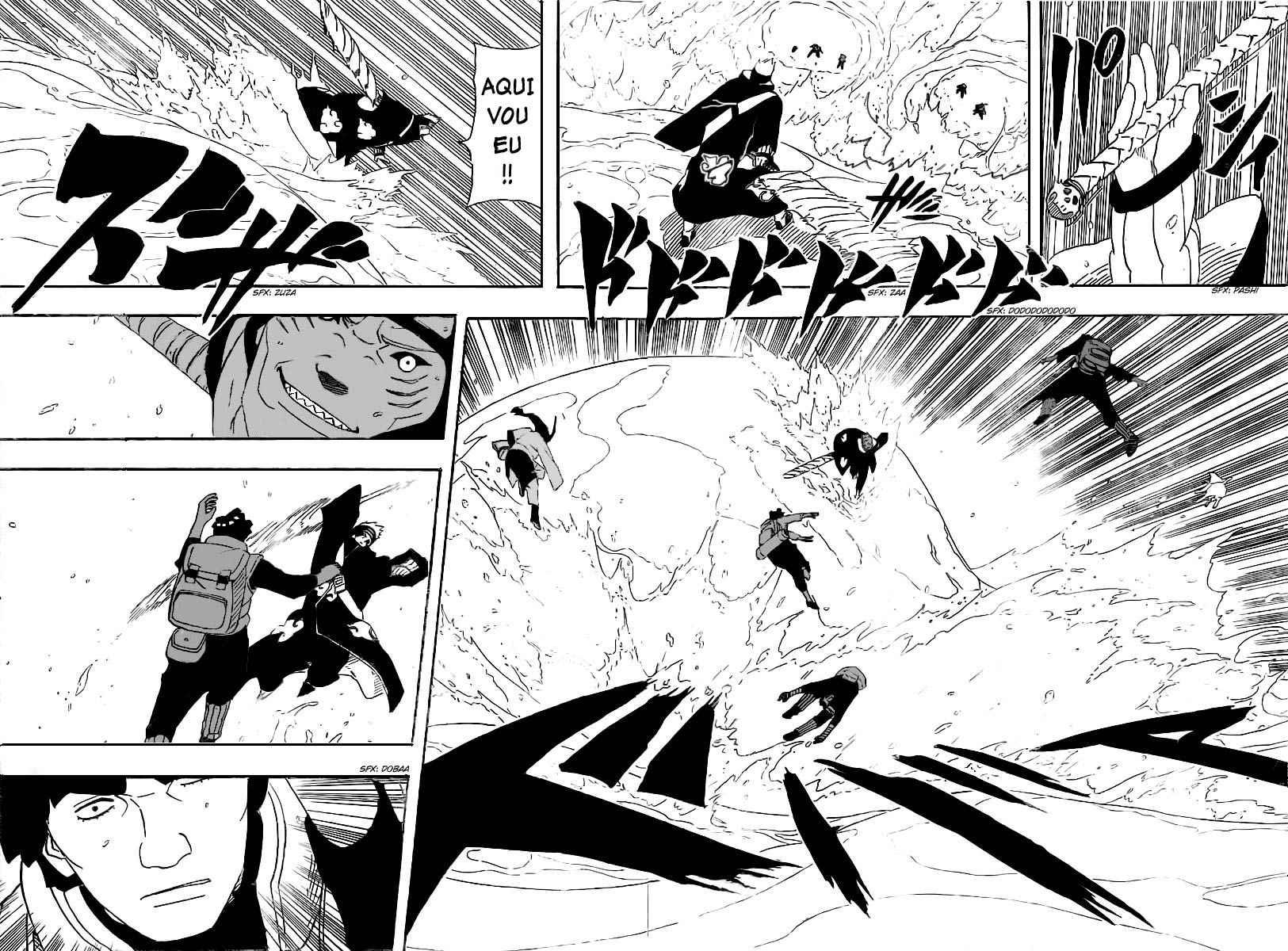 Kisame vs Hiashi, Neji e Hinata 0419