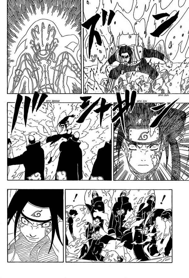 Kisame vs Hiashi, Neji e Hinata 13_111